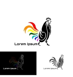 Logo rooster vector image
