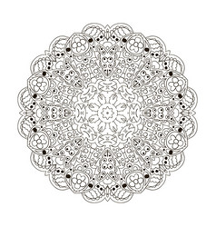 Mandala zentangl round ornament coloring relax vector