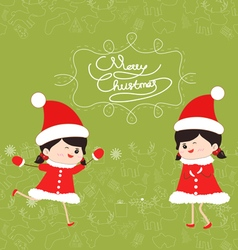 Merry christmas kids funny vector