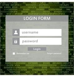 Modern login form for website vector