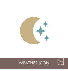 Moon and stars icon meteorology weather vector