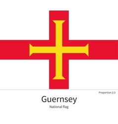 National flag of guernsey with correct proportions vector