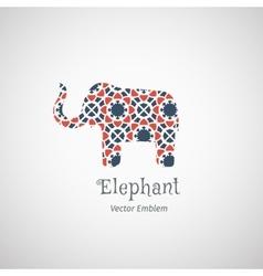 Ornamental elephant logo vector