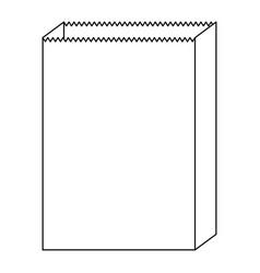 paper bag icon in monochrome silhouette vector image vector image
