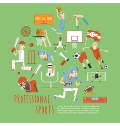 Professional competitive team sports concept vector
