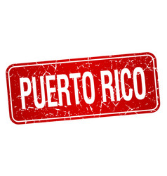 Puerto rico red stamp isolated on white background vector