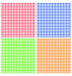 Set of colorful checkered patterns vector