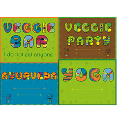 set of funny inscriptions for invitation cards vector image vector image