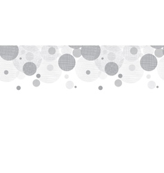 Silver grey circles dots horizontal vector