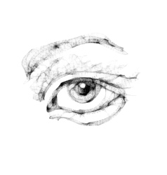 Sketch of female eye vector image vector image