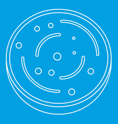 Slice of sausage icon outline vector