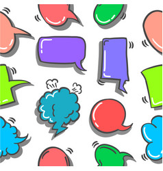 Text balloon style of doodles vector