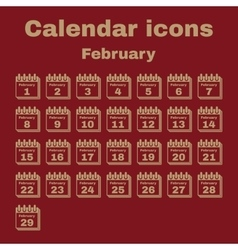 The calendar icon february symbol flat vector