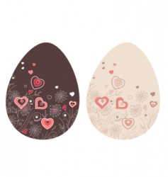 two Easter eggs vector image vector image