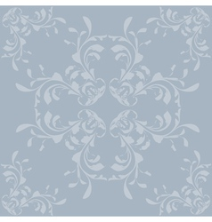 Vintage blue pattern background vector image vector image