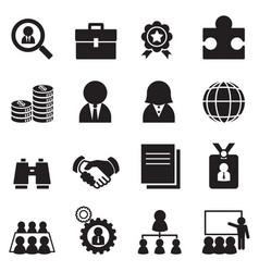 Silhouette job icon set vector