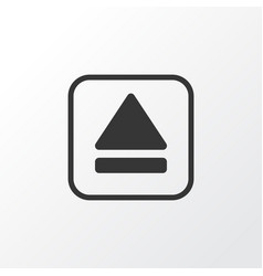 Eject button icon symbol premium quality isolated vector