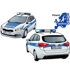 poland police car vector image