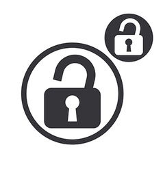 Padlock lock simple single color icon isolated on vector