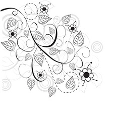Floral abstract design vector