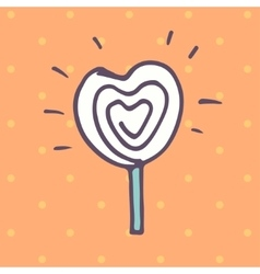 Valentines day lollipop flat icon vector