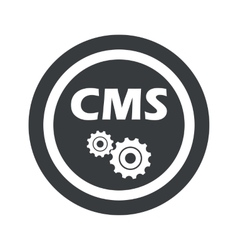 Round black cms settings sign vector