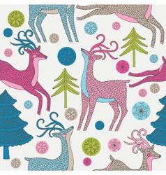 Reindeer background vector