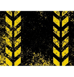 Grungy hazard stripes vector