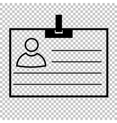 Id card line icon vector