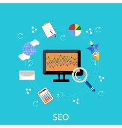 SEO Icons Poster vector image