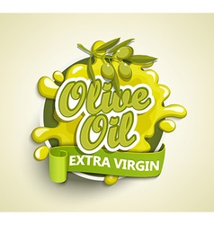 Olive oil extra virgin label vector