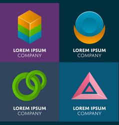 Abstract geometric elements for business design vector