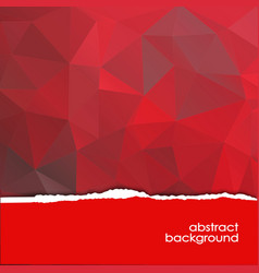 abstract red background with a polygonal pattern vector image vector image