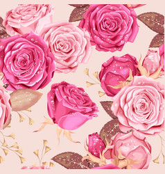 beautiful roses seamless vector image vector image
