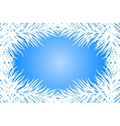 blue frame with fir branches vector image vector image