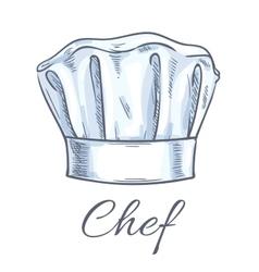 Chef toque sketch icon vector