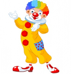 Clown presenting vector