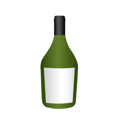 Colorful realistic wide champagne bottle with vector