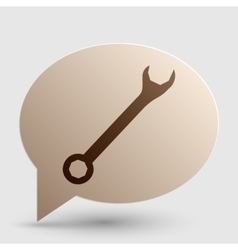 Crossed wrenches sign brown gradient icon on vector
