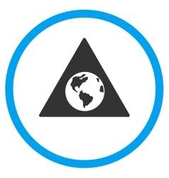 Earth warning icon vector
