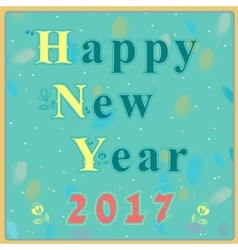 Happy new year 2017 Vintage greeting card vector image