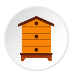 Hive icon circle vector