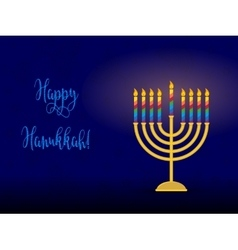 Jewish holiday of Hanukkah hanukkah menorah and vector image