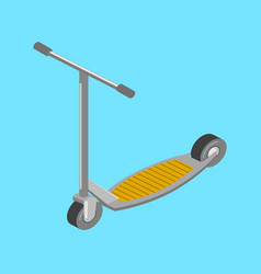 kick scooter transport isometric vector image vector image