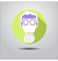 Logo face shield vector