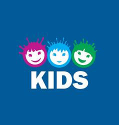 logo kids vector image