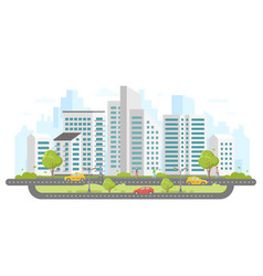 Modern city - colorful flat design style vector