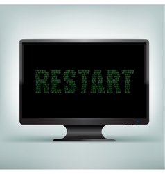 monitor code restart vector image