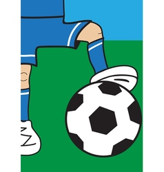 Part of a football player with the ball vector image