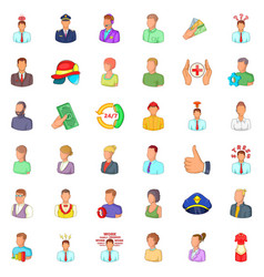 Person icons set cartoon style vector